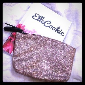 IPSY Pink Glittery Makeup Bag